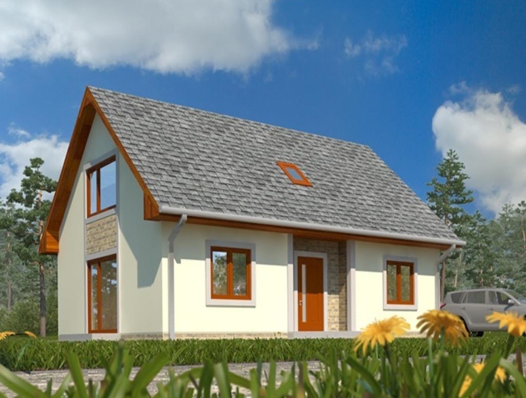 projekt rodineho domu murovany s obytnym podkrovim topolcany