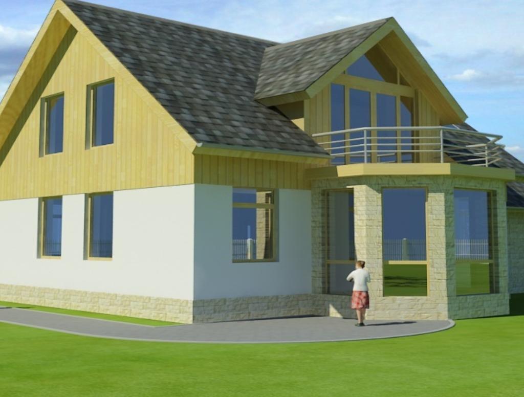 projekt murovany RD - Rodinný dom CESIS - bočný pohľad