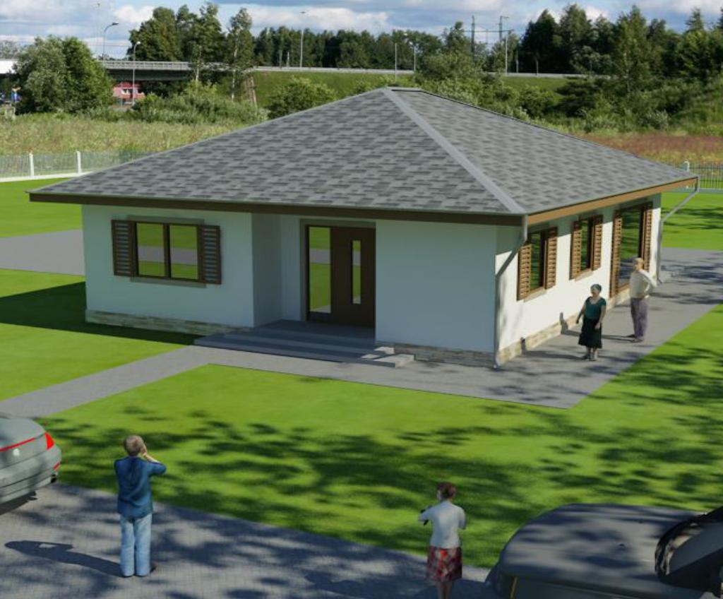 RENOVA - Rodinný dom KATA - predný pohľad