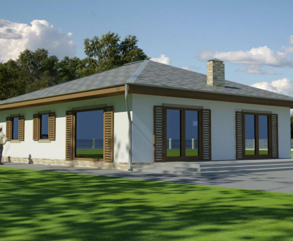 ENOVA - Rodinný dom KATA- zadný pohľad