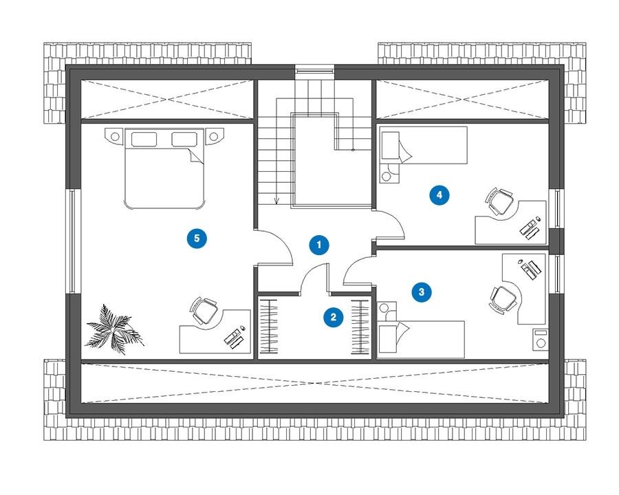 RENOVA - Rodinný dom SAMUEL - pôdorys 2NP