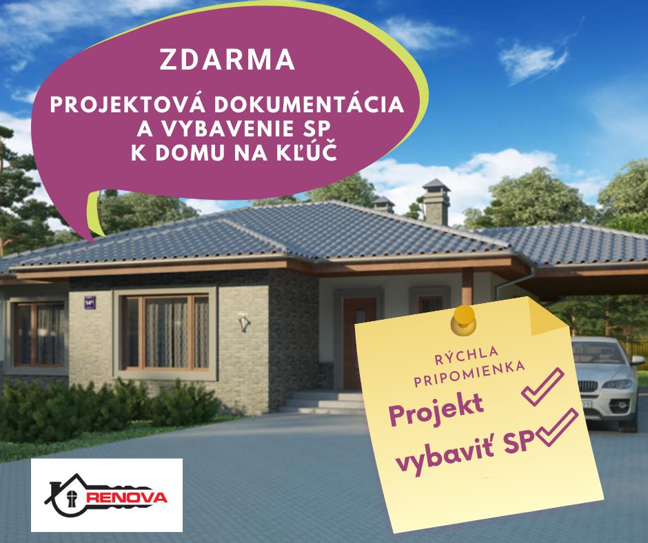 projekt na rodinný dom zadarmo